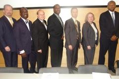 Panelists-Rep. Moran, Rev. Walters, Sen. Rosenberg, Rev. Dickerson, Peter Wagner, Brenda Wright, Michael Curry.