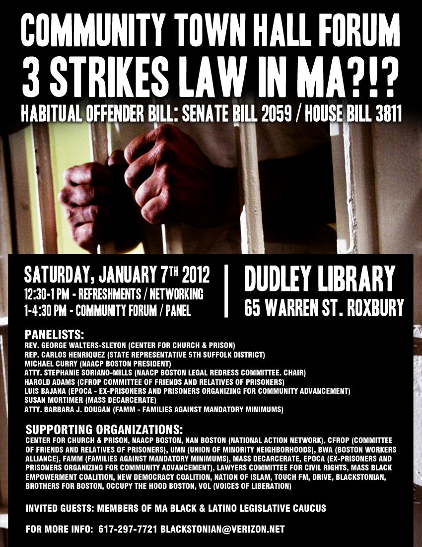 3 strikes-Public Forum
