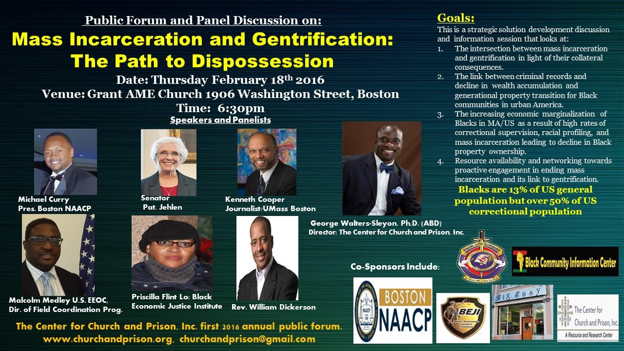 Pub Forum Mass Incarceration and Gentrification